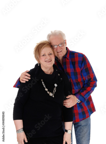 Lovely senior couple hugging. Poster