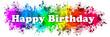Paint Splatter Words - Happy Birthday