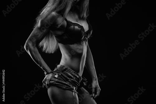 Juliste Fitness lady on black