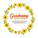 gardening landscaping decorative frame vector illustration design