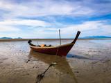 Long tail boat in at Andaman sea Trang province Thailand