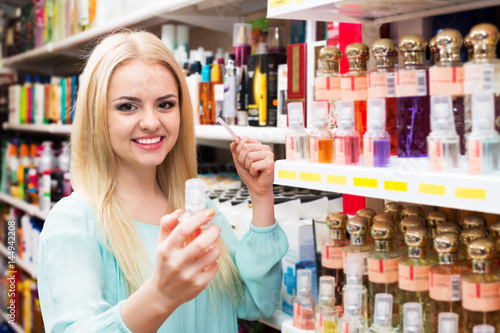 Blondie shopping in beauty store