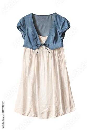 Plakat Dress with jacket isolated