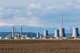 Industrial facility seen through heat wave