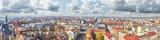 Fototapeta Panoramic view of Szczecin (Stettin) city downtown, Poland