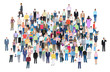 Crowd of different people, vector illustration
