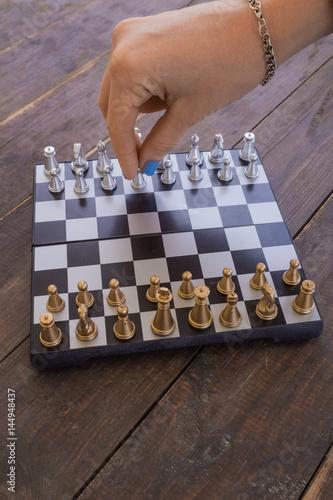 Valokuva Chess, game, recreation, entertainment, intellectual, desktop.