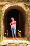Portrait Thai woman at Wat Umong Tunnel in Chiang Mai, Thailand