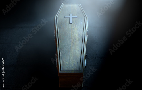 Coffin And Crucifix - 144964647