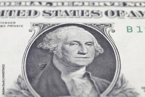 Washington  George portrait on dollar bill Poster
