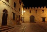 Certaldo upper side, night foreshortening of Castle, Florence,Tuscany, Italy