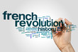 French revolution word cloud