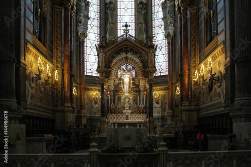 Plagát the basilica details of notre-dame de fourvière