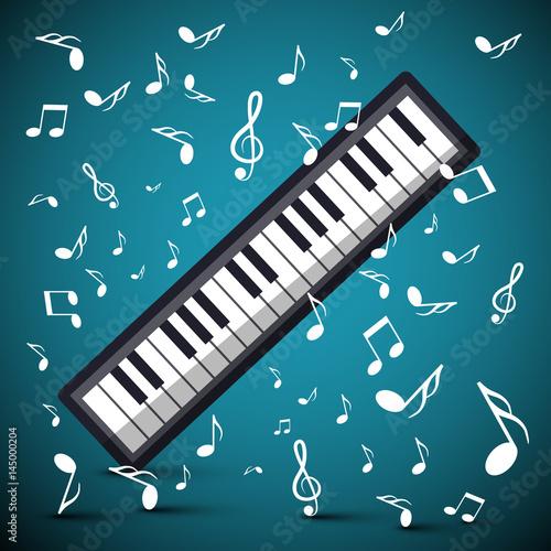 fondo-de-musica-con-notas-y-teclado