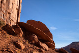 Discus Shaped Rocks in Monument Valley