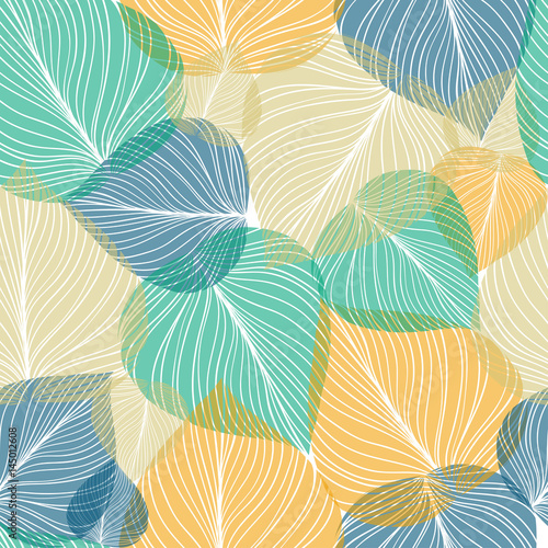 Tapeta ścienna na wymiar Seamless leaf background, vector illustration.
