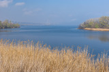 Spring spring landscape with Dnepr river near Dnepr city, Ukraine