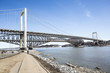 "panorama of the ""Pont de Quebec"" in spring season"
