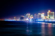 Skyline of Atlantic City, New Jersey at night at the boardwalk