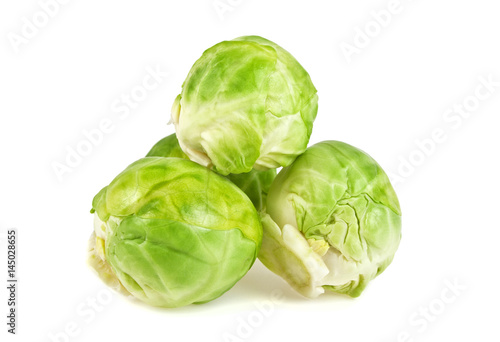 Papiers peints Bruxelles Brussels sprouts on white background