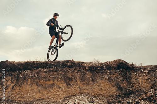 Man balancing on the edge