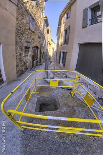 travaux publique/barrière de chantier