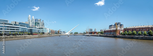 Fotobehang Buenos Aires Panoramic view of Puerto Madero - Buenos Aires, Argentina