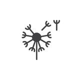 Вandelion, taraxacum icon vector, filled flat sign, solid pictogram isolated on white. Blowball symbol, logo illustration. Pixel perfect