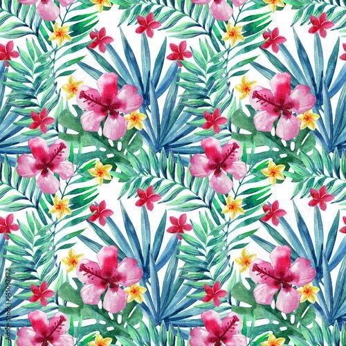 Fototapeta Abstract tropical summer seamless pattern.