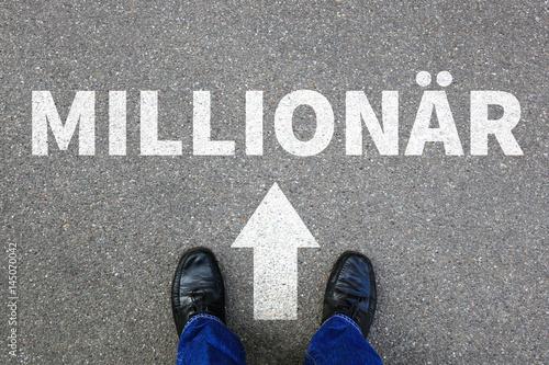 Millionär reich Reichtum Erfolg erfolgreich Karriere Business man Konzept Busine Poster