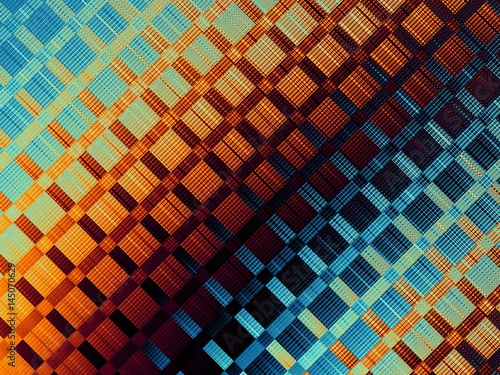 Digital art abstract pattern. Abstract plaid fractal image