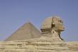 Sphinx vor Cheops-Pyramide, Gizeh