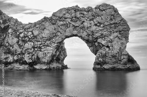 Poster Durdle Door from beach