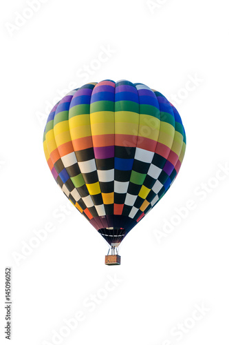 Deurstickers Ballon hot air balloon isolated on white background
