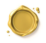 Golden seal (includes clipping path) - 145105080