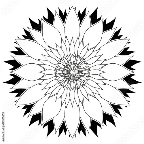 Fleur motif mandala