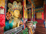 Leh Ladakh , India - August 11, 2015 : Maitreya buddha statue in Leh Ladakh, India