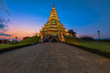 Wat Huai Pla Kung (Temple) in Chiang Rai,Thailand.APR 20,2017 Wat Huai Pla Kung temple the pagoda in Chinese style in Chiangrai province of Thailand.well known wordwide.