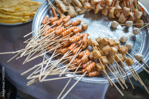 Myanmar street food, Yangon, Myanmar Poster