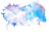Watercolor illustration of sky with cloud. - 145127497