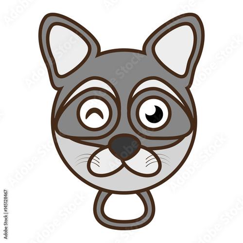 cute raccoon face kawaii style vector illustration eps 10 - 145128467