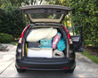 SUV packed and loaded for move to college