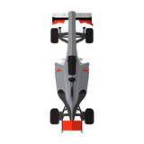 Top view of an isolated racing car, Vector illustration