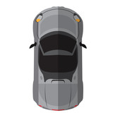 Top view of an isolated car, Vector illustration