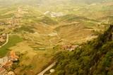Ausblick von San Marino / Italien auf die Umgebung
