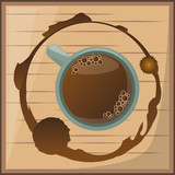 coffee cup over wooden desgin vector illustration eps 10