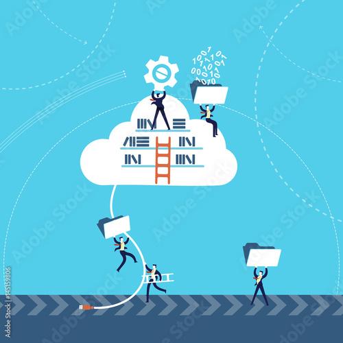 Business information on cloud data storage online