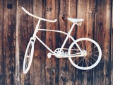 white bicycle, vintage style