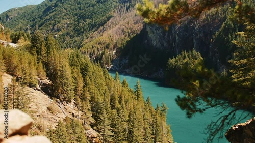 Turquoise Glacial Lake Scenic, North Cascades National Park