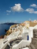 Santorini island in Greece, Oia village, - 145180053